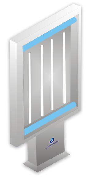 односторонний пилон сити формата со скроллерным механизмом